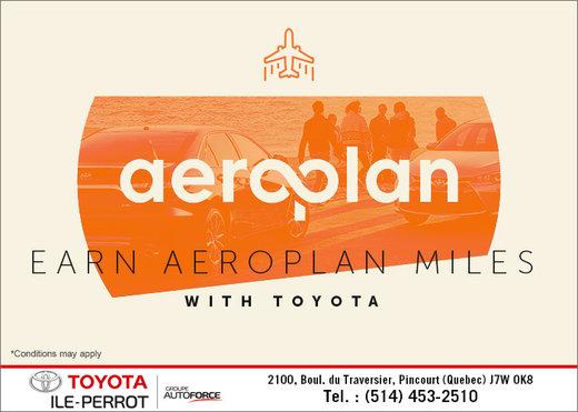 Earn Aeroplan Miles with Toyota