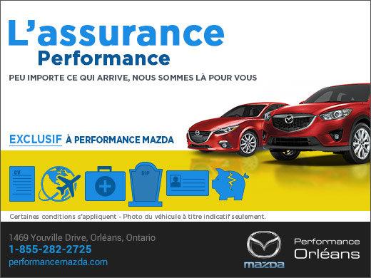 Performance Assurance chez Performance Mazda à Ottawa