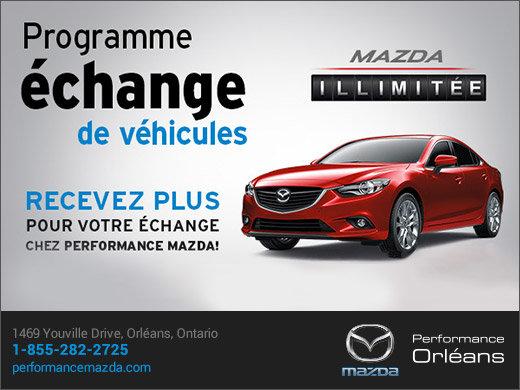Programme échange de véhicules chez Performance Mazda chez Performance Mazda à Ottawa