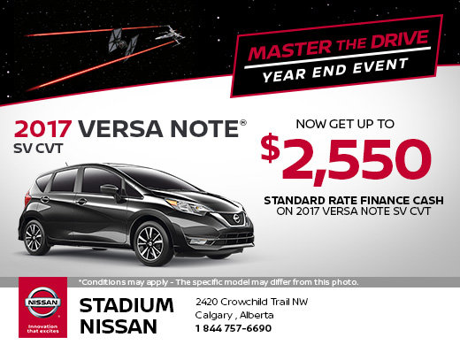 Save on the 2017 Nissan Versa Note