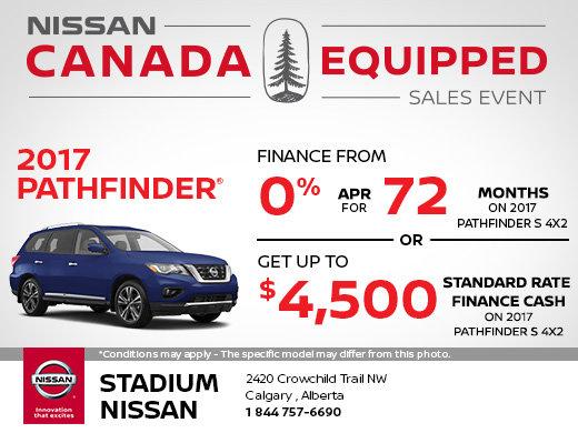 Save on the 2017 Nissan Pathfinder!