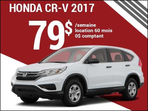 Découvrez le Honda CR-V 2017 pour 79$ par semaine chez Avantage Honda à Shawinigan