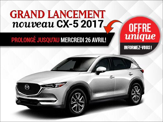 Lancement du Mazda CX-5 2017 PROLONGÉ chez Prestige Mazda à Shawinigan
