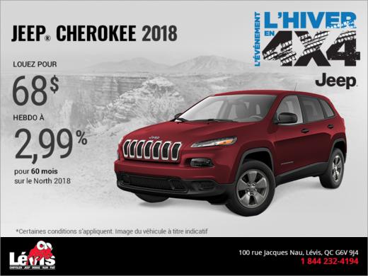 Obtenez le Jeep Cherokee 2018!