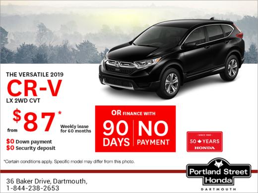 Lease the 2019 Honda CR-V !