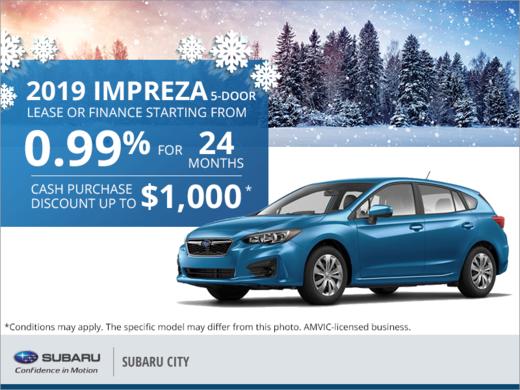 Get the 2019 Subaru Impreza 5-Door Today!