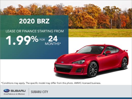 Get the 2020 Subaru BRZ Today!