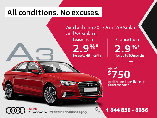 Save Big on the New 2017 Audi A3
