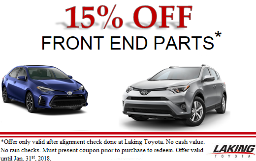 Save 15% on Front End Parts