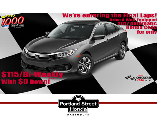 2017 Honda Civic LX for only $115 bi-weekly plus tax, with NO money down!
