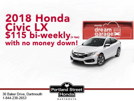 2018 Honda Civic LX $115 bi-weekly