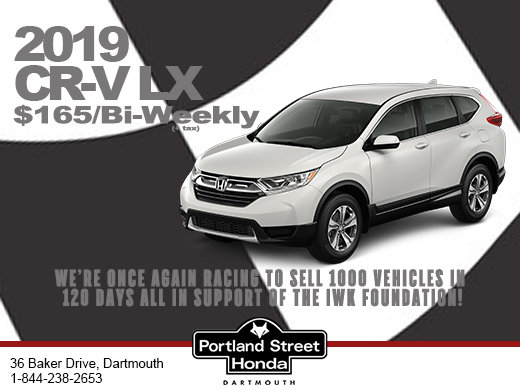 2019 Honda CR-V LX priced at only $165 bi-weekly + tax with $0 down!