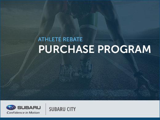Subaru Athlete Rebate Purchase Program
