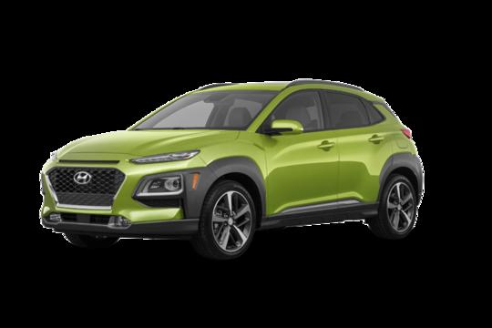 <span>2020 Hyundai</span> Kona ULTIMATE Black with Lime Trim