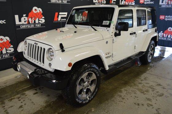 Jeep Wrangler Unlimited SAHARA BLUETOOTH ENS. 2 TOITS ATTACHE REMORQUE 2017