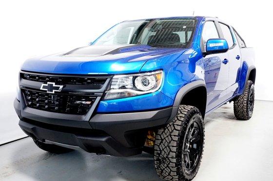 New 2018 Chevrolet Colorado ZR2, Crew Cab, S/Box Kinetic Blue Metallic - $53320.0   440 ...
