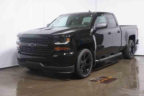New 2018 Chevrolet Silverado 1500 Custom, Double Cab Black ...