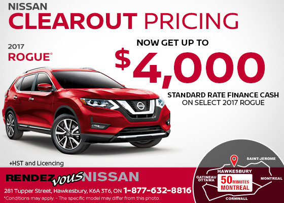 Get the All-New 2017 Nissan Rogue!