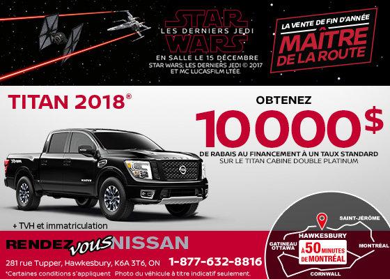 Nissan Titan 2018 en rabais!
