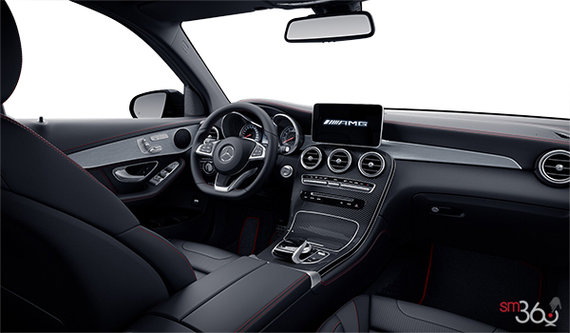 Black AMG Leather Includes red contrasting stitching