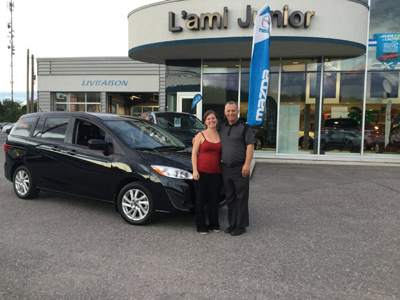 Mazda 5 noir 2015