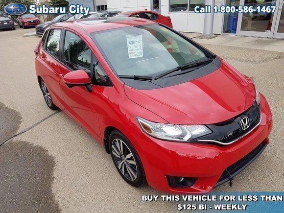2016 Honda Fit EX-L Navi,LEATHER,SUNROOF,AIR,TILT,CRUISE,PW,PL,WINTER TIRES AND RIMS,LOCAL TRADE,CLEAN CARPROOF!!!!
