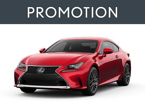 Promotion Lexus RC neuf à Montréal