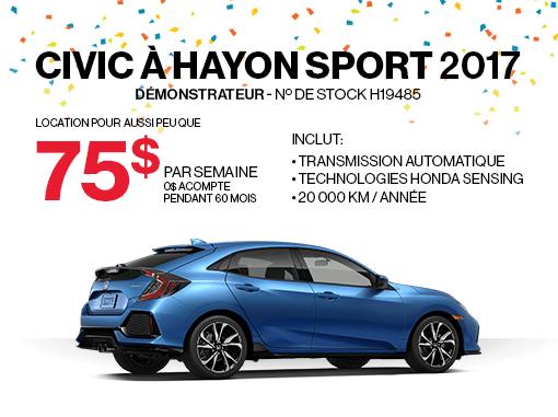 Honda Civic à hayon en promotion à Montréal