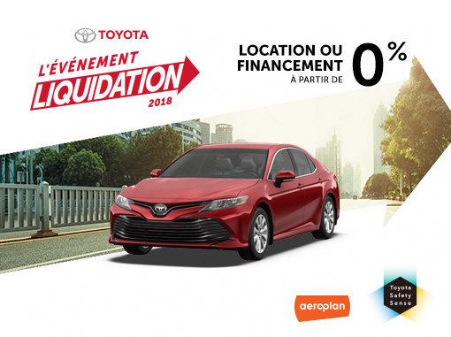 L'Événement Liquidation 2018 chez Spinelli Toyota