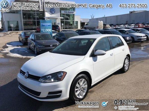 2017 Volkswagen Golf Trendline  - Certified - Bluetooth - $146.60 B/W