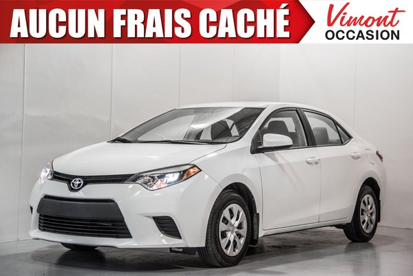 Toyota Corolla 2014+LE+ECO+CAMERA RECUL+SIEGES CHAUFFANTS 2014