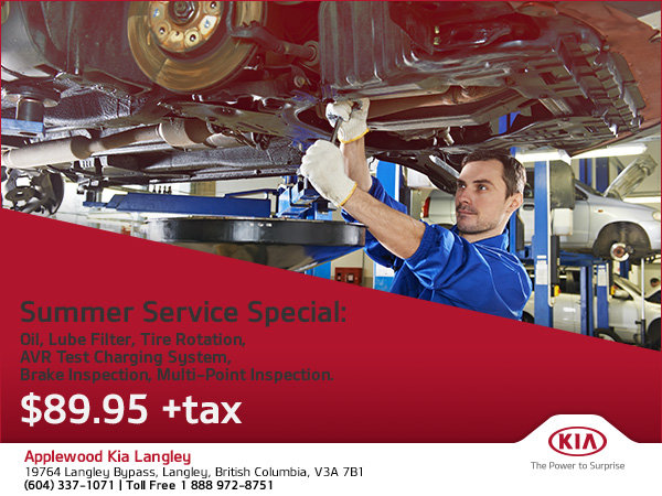 Take Advantage of Our Summer Service Special!