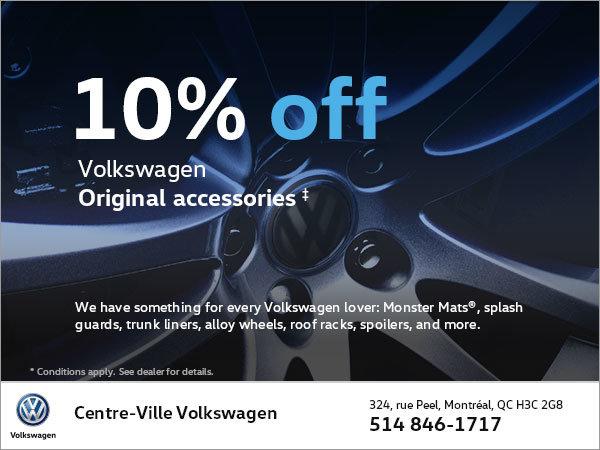 Get 10% Off Volkswagen Original Accessories