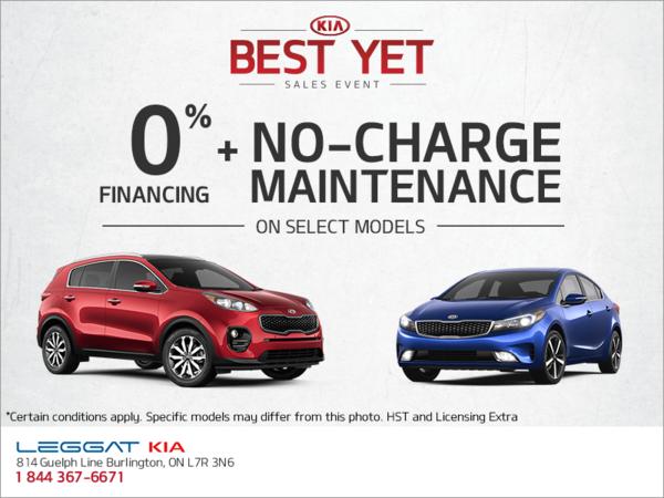 Kia Best Yet Sales Event