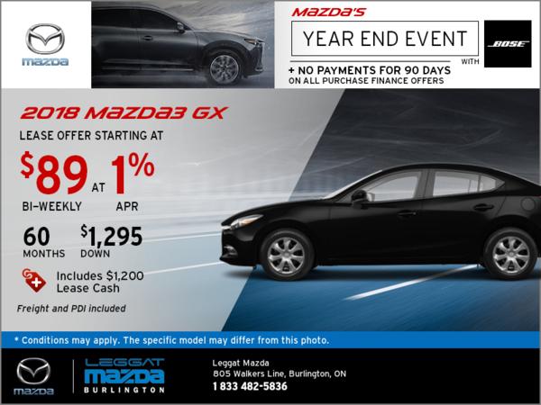 Save on the 2018 Mazda3 GX