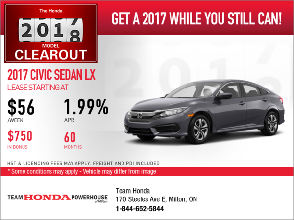 Save on the 2017 Civic