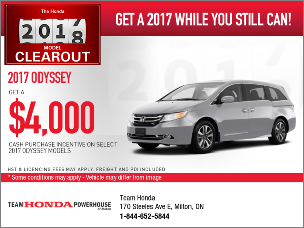 Save on the 2017 Odyssey Today!