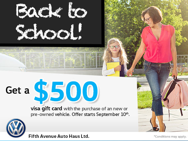Back to School at Fifth Avenue VW!