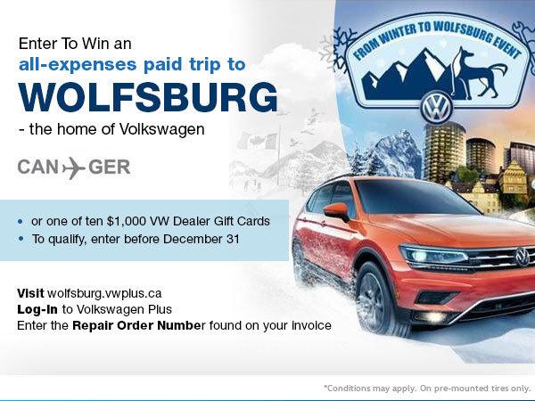 Enter to Win a Trip to Wolfsburg!