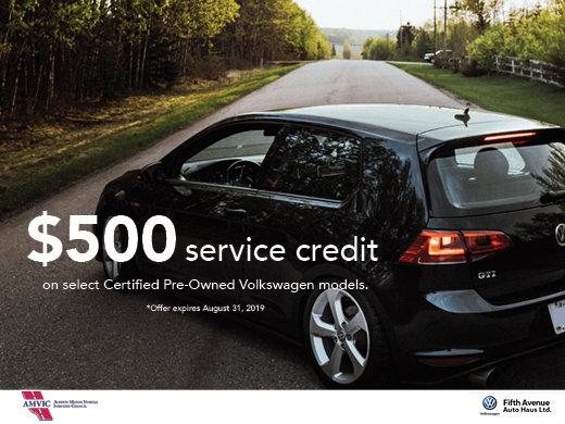 $500 Service Credit