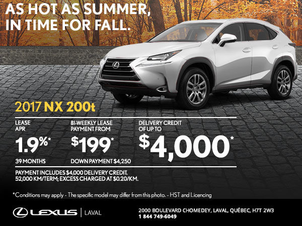 Lease the Brand-New 2017 Lexus NX Today!