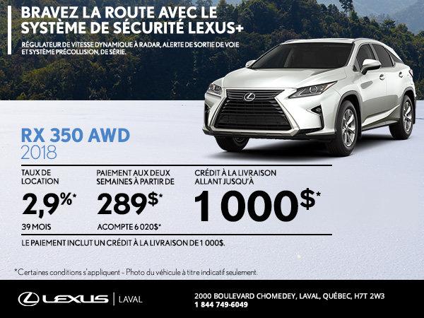 Lexus RX 350 2018 en rabais