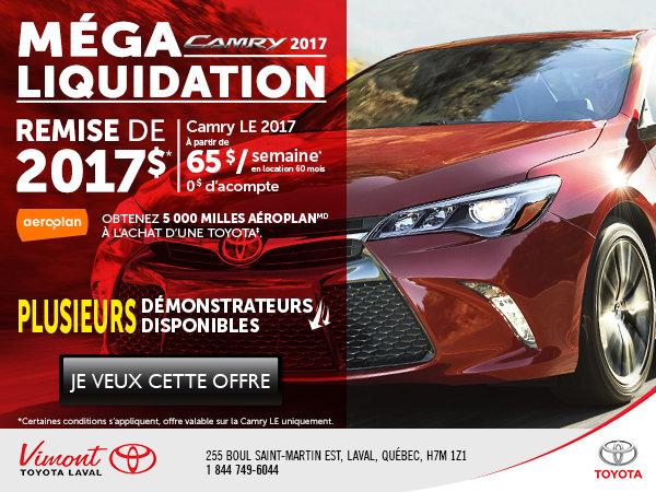 Méga liquidation Camry 2017