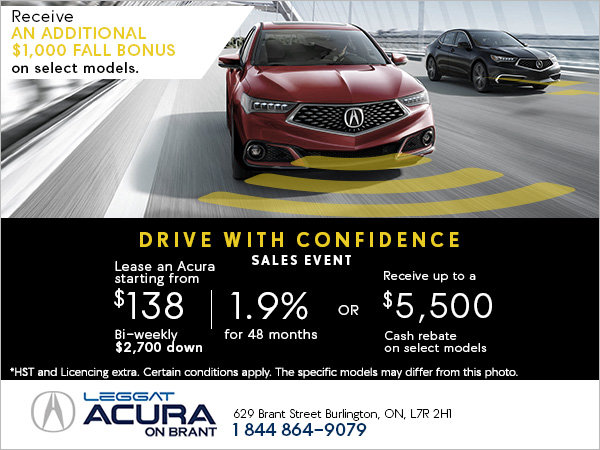 Acura's Drive with Confidence Sales Event!
