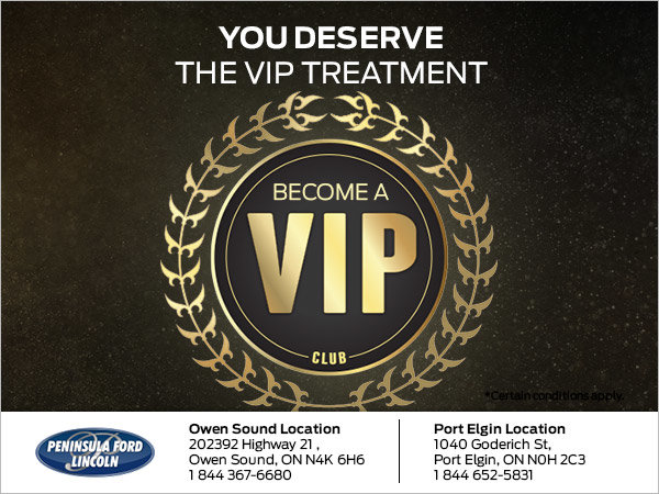 Become a VIP at Peninsula Ford Lincoln