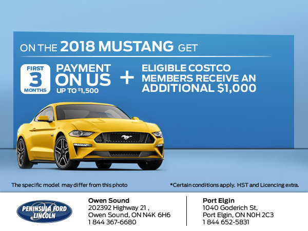 Save on the 2018 Mustang