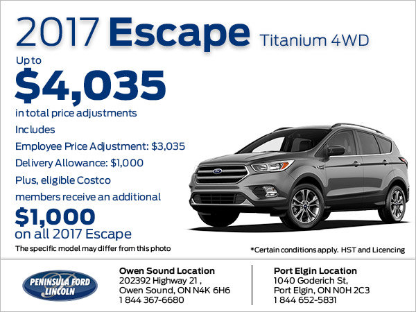 Save on the 2017 Escape