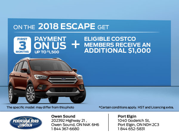 Save on the 2018 Escape