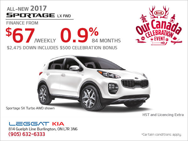 Save on the New 2017 Sportage
