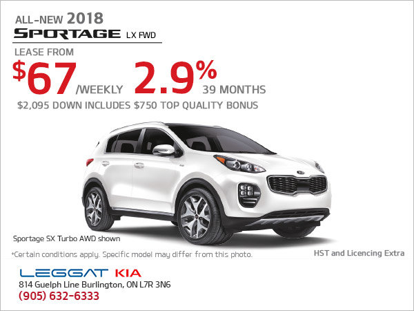 Save on the New 2018 Sportage